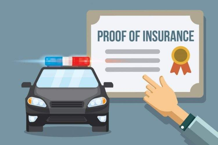 Proof of insurance for car shipping service